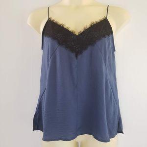 Express Lace Camisole Top Blue Medium